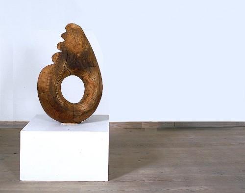 Fotograf: Eget fotoVærk  titel: Magisk ring Værk  type: Skulptur Materiale: Elmetræ Størrelse: 100x60x40 cm Færdiggjort: 1998