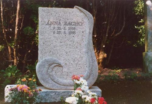 Fotograf: Eget fotoVærk  type: Gravsten Materiale: Granit Størrelse: 80x60x20 cm Færdiggjort: 1995 Placering: Flade Kirke