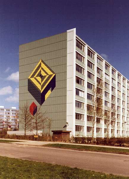 Fotograf: Eget fotoVærk  titel: Uden titel Værk  type: Udsmykning Færdiggjort: 1991 Placering: AAB, Frydenlund, Århus
