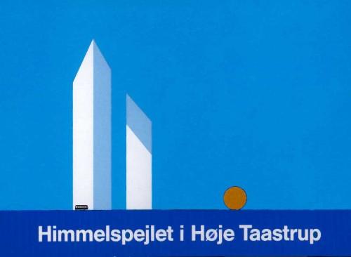 Fotograf: Eget fotoVærk  titel: Himmelspejlet - Idé til Tårncenter i Høje Tåstrup Størrelse: Højde 13000 cm Øvrigt: Projekt udført i samarbejde med P&T, Bygningsvæsenet.