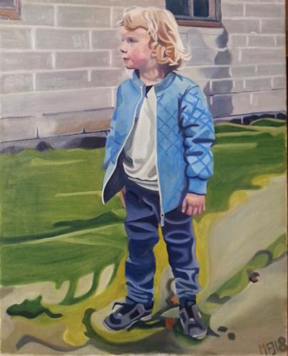 Portræt af min søn, 40x50 cm, 2000 kr. Bestilling af portrætter modtages. Se mere på www.mariefredborg.dk