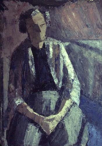 Fotograf: Eget fotoVærk  titel: Min mor Værk  type: Maleri Materiale: Olie på lærred Størrelse: 85x110 cm Færdiggjort: 1979 Placering: Privateje