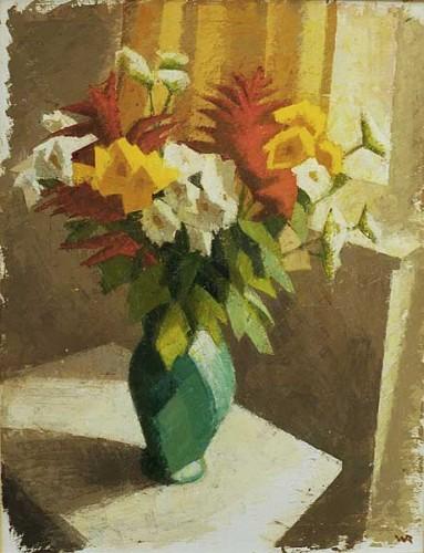 Fotograf: Eget fotoVærk  titel: Blomsterbilled Værk  type: Maleri Materiale: Olie på lærred Størrelse: 125 x 84 cm