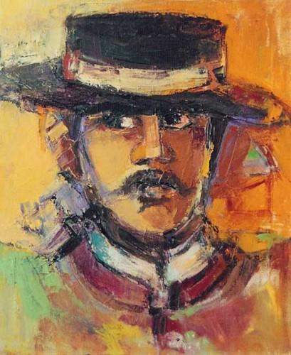 Fotograf: Eget fotoVærk  titel: Pedro Værk  type: Maleri Materiale: Olie på lærred Størrelse: 60 x 50 cm