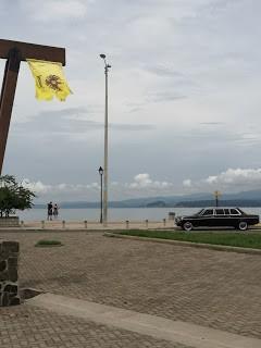 Balneario de Puntarenas. COSTA RICA MERCEDES LIMO W123 LANG LWB